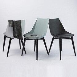 Nowoczesne  minimalistyczne biuro wygodne krzesło biurowe salon krzesło do jadalni meble restauracyjne studium sypialnia kawiarnia krzesło z oparciem na