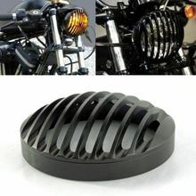 5 3/4 CNC Motorcycle Headlight Light Grill Cover for Harley Sportster XL 883 1200 2004-14