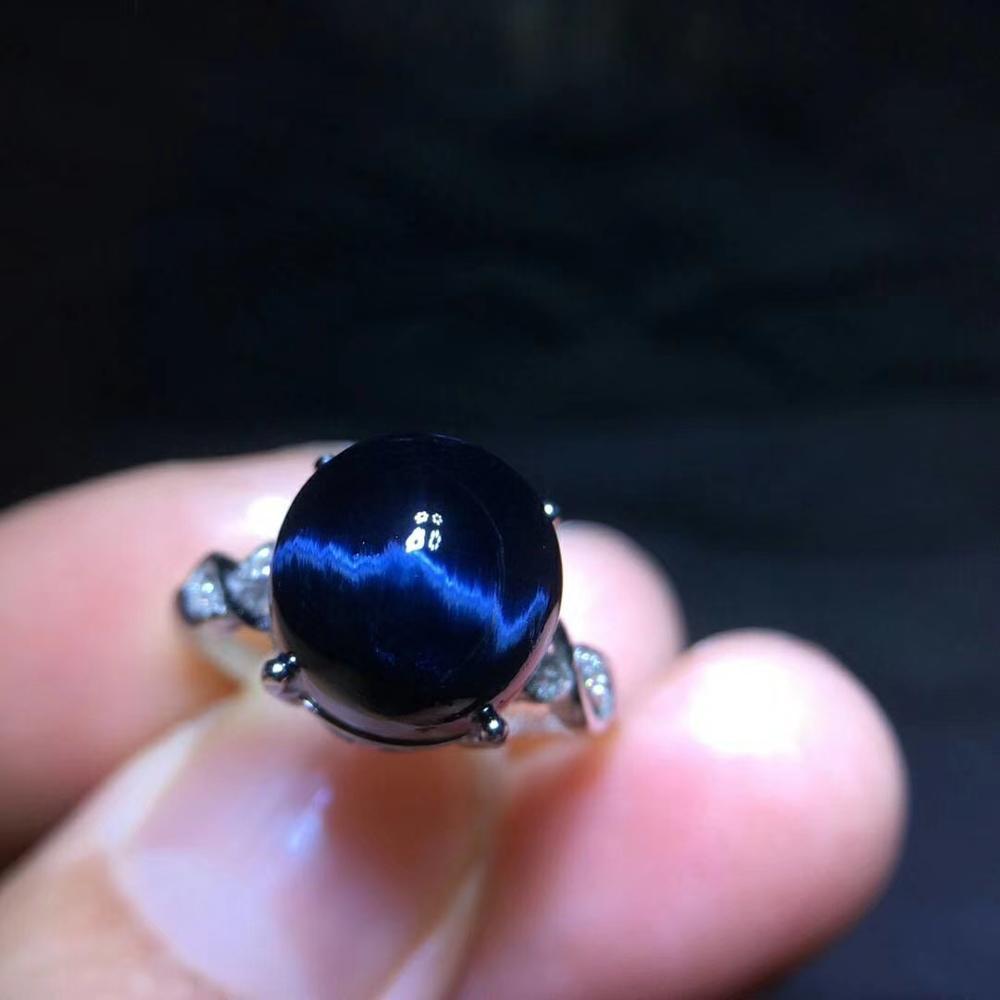 Véritable pierre gemme bleu naturel Pietersite Chatoyant taille réglable bague 14x11mm de namibie 925 argent cristal femmes hommes AAAAA