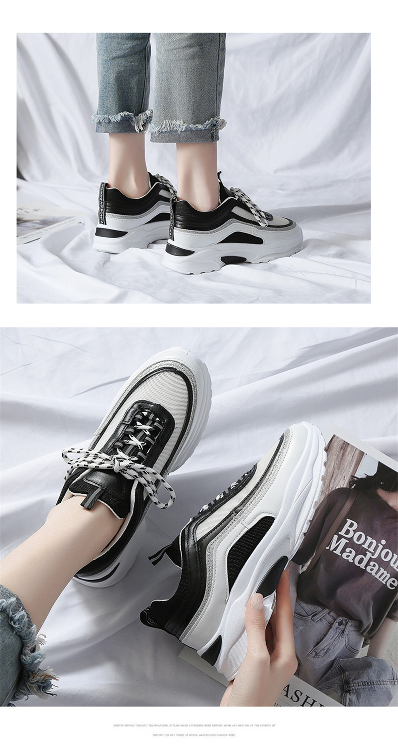 Spring Summer New Fashion Women's Vulcanize Shoes Casual Platform Increased Women Shoes Sneakers Casual Shoes Women VT611 (8)
