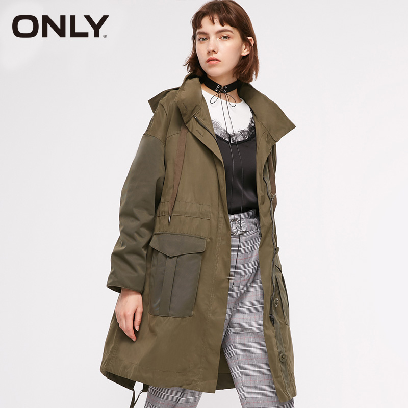 ONLY new Collared Big pocket tooling   trench   Long coat | 118336538