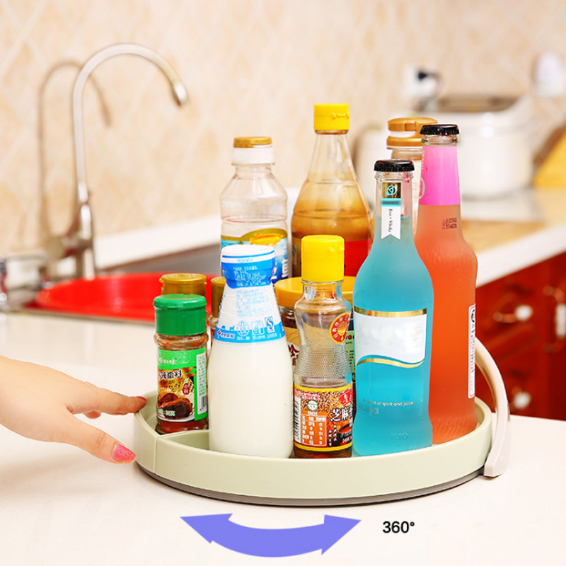 Hot 12Inch Non Skip Cabinet Turntable Kitchen Spice Beverage Organizer Rack Storage Holder FAS6 Dishes & Plates     - title=