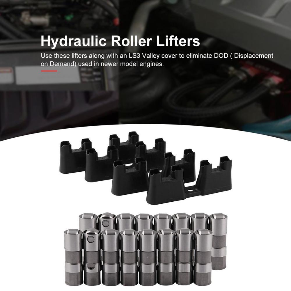 Automotriz Válvula de alto rendimiento Tappet LS7 LS2 16 rendimiento hidráulico rodillo elevador y 4 guías 12499225 HL124 - 6