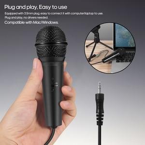 Image 4 - Конденсаторный микрофон 3,5 mmRecording микрофон Plug and Play с штатив Трипод стойка для студии радиовещания подкастинг конференции видео чат