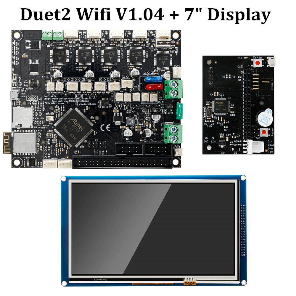 Duet 2 Wifi V1.04 Motherboard Cloned Reprap Firmware 32bit Duet2 WiFi Board + 7