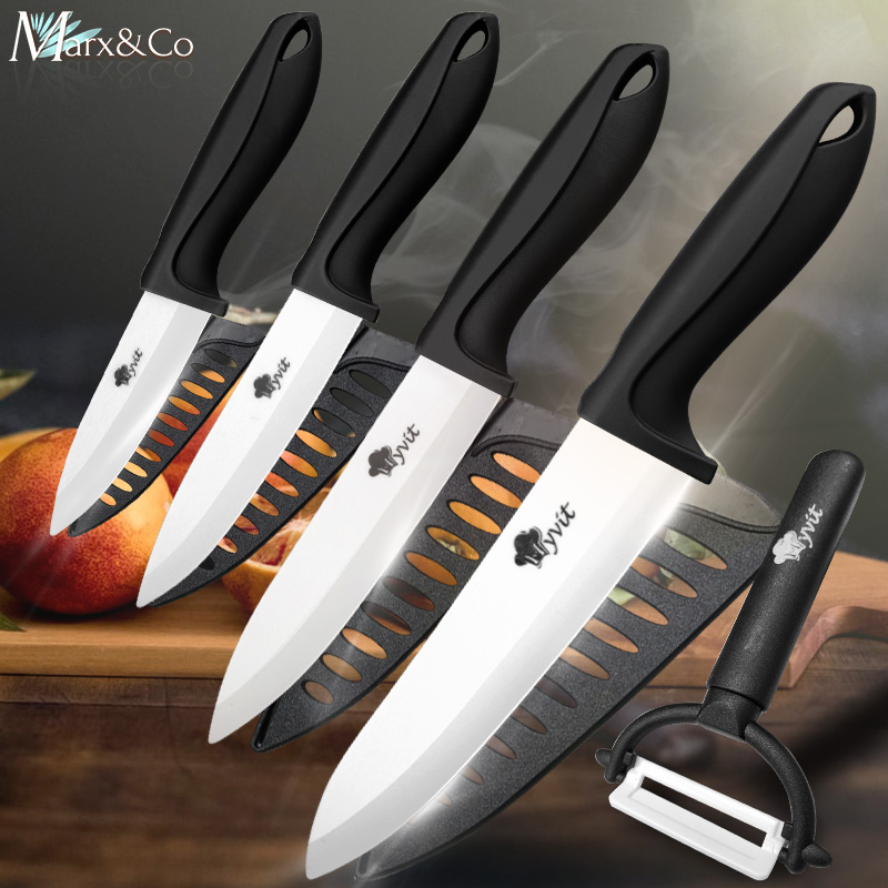 Ceramic Knife 3 4 5 6 Inch Knives Kitchen Set White Blade Chef Utility Paring Vegetable Slicing Ceramic Knives With Peeler Set