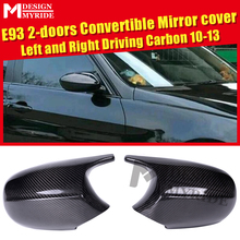 LCI E93 100% Vacuumed Dry Really Carbon Fiber Mirror Cover Cap Add on Style M3 Look For BME 3-Series Sedan 1:1 Replacement 10-13