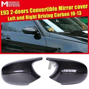 LCI E93 100% aspirado seco realmente fibra de carbono espejo tapa añadir en estilo M3 buscar BME 3- serie Sedan 1:1 reemplazo 10-13