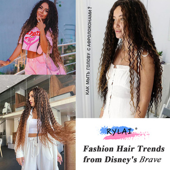 Deep Wave Crocheted Twist Organic Hair Crochet Braids Ombre Braiding Hair Extensions Synthetic Afro Curls For Women Anjo Plus 6