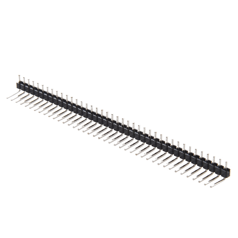 10 Pcs 1 X 40 Pin 2.54mm Pitch Single Row Right Angle PCB Pin Headers