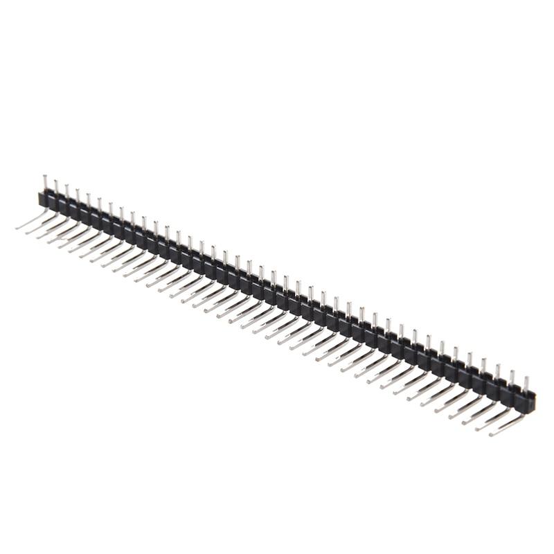 10 Pcs 1 X 40 Pin 2.54mm Pitch Single Row Right Angle PCB Pin Headers