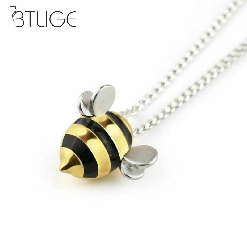 Женское Ожерелье, бижутерия, мода, милая пчела, ожерелье длиной до ключиц с подвесками