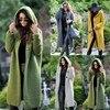 Women Long Cardigan Solid Knitted Hooded Sweater 2021 Autumn Winter Female Coat Plus Size 5XL Casual Streetwear Loose Coat