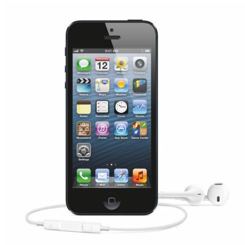 Оригинальный iPhone 5 разблокированный мобильный телефон 16 Гб/32 ГБ/64 Гб ПЗУ двухъядерный 3g 4,0 дюйма 8MP камера iCloud wifi gps IOS OS сотовые телефоны - 5