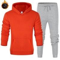 Paar Mode Beiläufige Hoodies gesetzt Laufende Sport einfarbig Lose Übergroßen Sweatshirt frauen Sweatshirt y2k Sweatshirt Hoodie