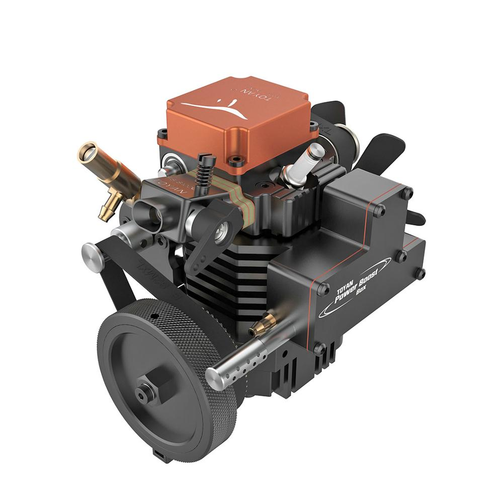 Toyan Four Stroke Gasoline Model Engine With Starting Motor For 1:10 1:12 1:14 RC Car Boat Airplane High Quality - FS-S100G