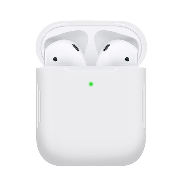 1PCS TPU Silicone Bluetooth Wireless Earphone Case For AirPods Protective Cover Skin Accessories for Apple Airpods Charging Box 2