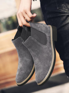 YIGER Chelsea-Boots Motorcycle Male Quality Men's Fashion Brand NEW Warm Man Slip Ankle
