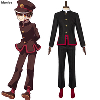 Anime Jibaku Shounen Costume Hanako Kun Cosplay Uniform Balck Full Set Custom Halloween Adult Men Carnival