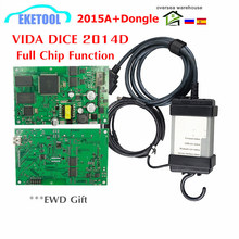 VIDA DICE For VOLVO Newest 2015A+Dongle to 2019 2014D Auto Diagnostic Full Chips For Volvo Vida Dice Green PCB Board
