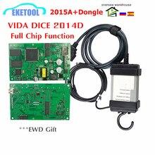 VIDA DICE dla VOLVO najnowszy 2015A + Dongle do 2019 2014D Auto diagnostyczne pełne chipy dla Volvo Vida Dice zielona płytka drukowana