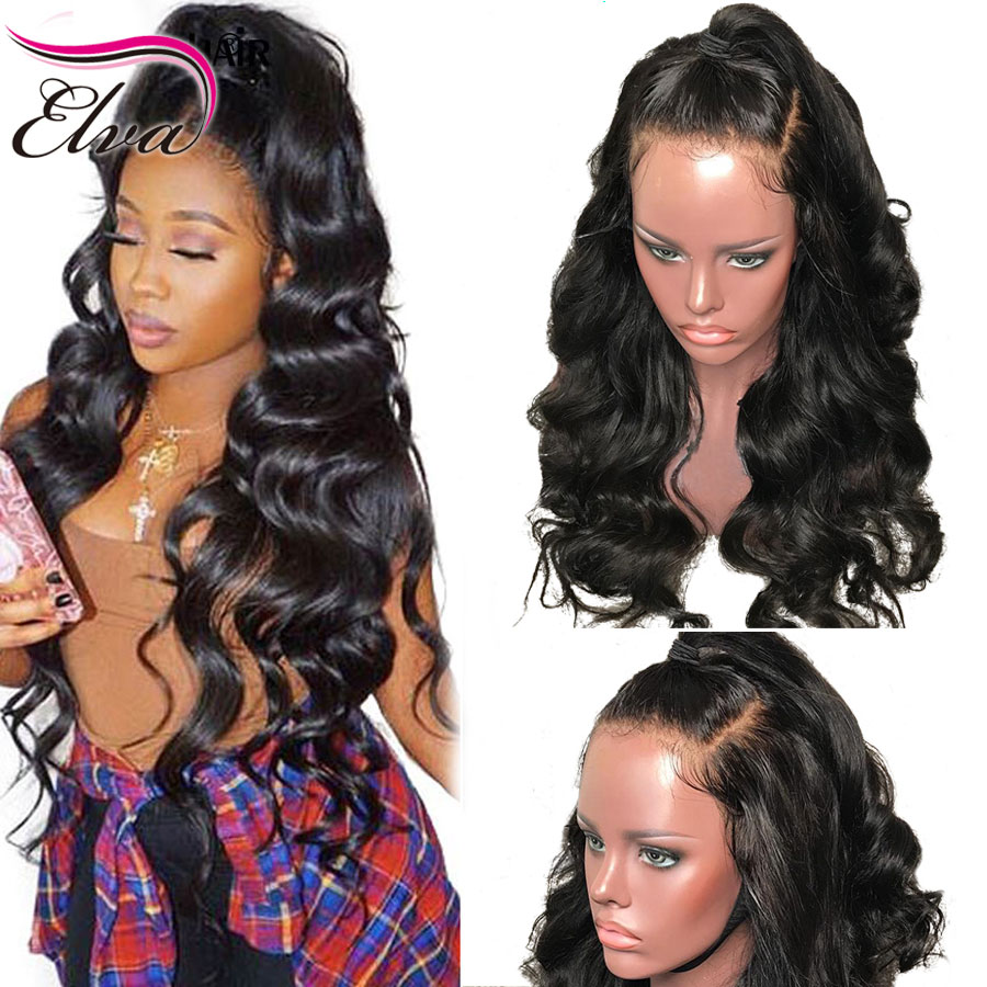 Elva Hair 13x6 Lace Front Human Hair Wigs Pre Plucked With Baby Hair Brazilian Remy Hair Lace Front Wig For Black Women 8-26''