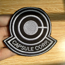 Embroidered Patches Anime Patch On Clothes Iron On Patches For Clothing Capsule Corp Patch Sewing On Garment Apparel Accessory