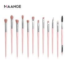 Maange 3/12 pçs pincéis de maquiagem conjunto cosméticos pó sombra fundação delineador kit escova de mistura beleza maquiagem ferramenta