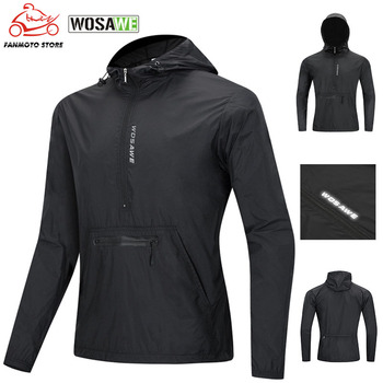 Motorcycle Cycling Windproof Hooded Jacket Road Mountain Bike Reflective Ultralight Jersey Long MTB Jackets Bicycle Windbreaker ultra light hooded bicycle jacket bike windproof coat road mtb aero cycling wind coat men clothing quick dry jersey thin jackets