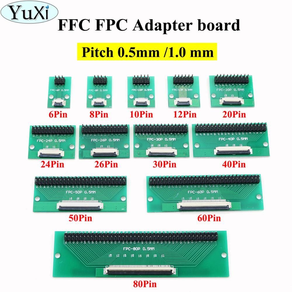 YuXi <font><b>FPC</b></font>/FFC flat cable transfer plate is directly inserted DIY 0.5 1 mm spacing connector 6 8 10 12 20 24 26 30 40 50 60 <font><b>80</b></font> <font><b>pin</b></font> image