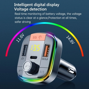 Image 3 - Bluetooth 5,0 Auto Kit Freisprechen FM Transmitter Stereo Auto MP3 Player PD18W QC 3,0 Schnell Ladung USB Auto Ladegerät TF/U Disk Spielen