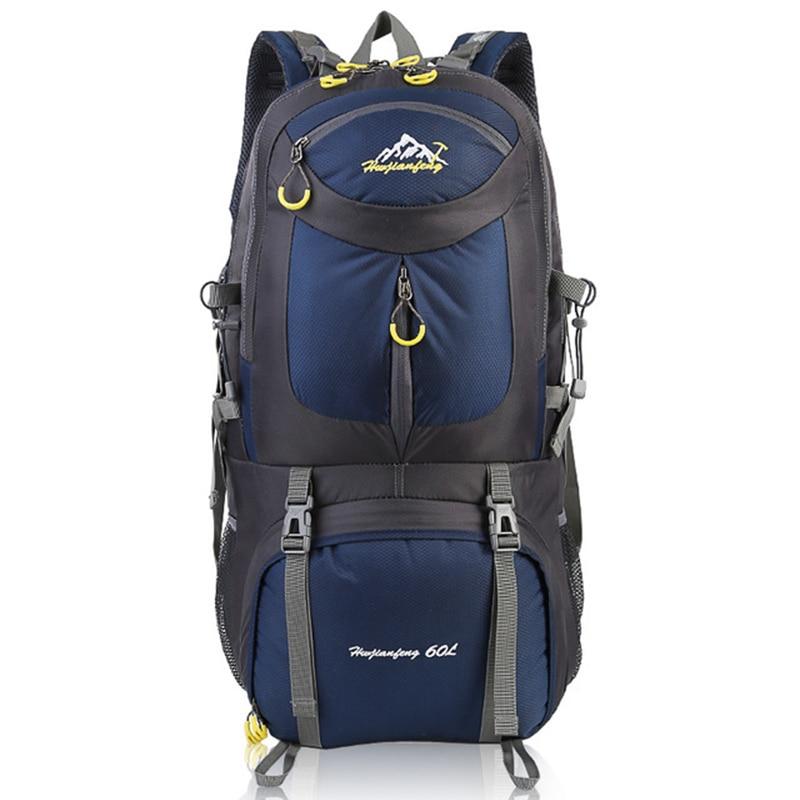 60L Men Hiking Backpacks Outdoor Backpack Camping Bag Waterproof MountaineeringTravel Molle Sport Bag Climbing Rucksack