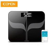 Icfairy échelles de poids du corps, sol intelligent Bluetooth Balance de salle de bains poids humain domestique échelle LCD outil de perte de poids