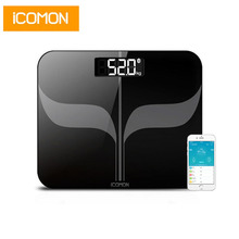 iCOMON Body Weight Scales Floor Smart Bluetooth Bathroom Scale Household Human Weight mi Scale LCD Balance Weight loss tool