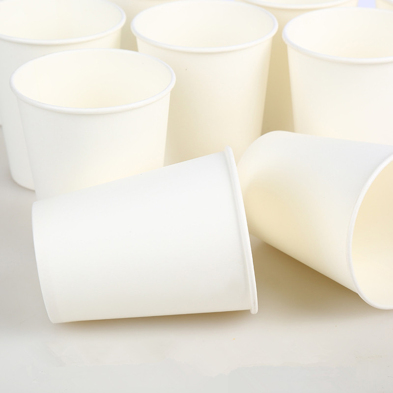 100pcs/Pack 250ml Pure White Paper Cups Disposable Coffee Tea Milk Cup Drinking Accessories Party Supplies