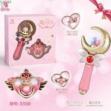Аниме Сейлор Мун карта Captor Sakura фигурка детей волшебная палочка светящаяся Фея Красочный легкий стержень музыкальные игрушки с коробкой