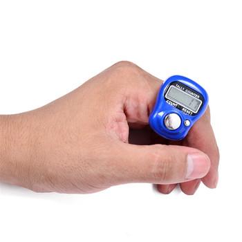 1 sztuk akcesoria do szycia szycia pierścień dziewiarski LCD elektroniczny Stitch Marker instrukcja kciuk licznik wiersz palec licznik tanie i dobre opinie Haft Druty dziewiarskie CWD715