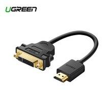 Ugreen HDMI a DVI 24 + 5 Cavo Adattatore HDMI Maschio a DVI DVI I Femminile M F Convertitore Adattatore Supporto 1080P per LCD HDTV