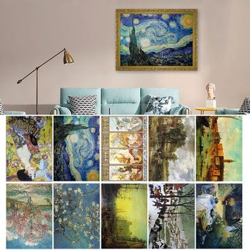 2000 Pcs/Pack Famous Painting Puzzle Assemble Jigsaw Toys for Adults Home Decor M76C фото