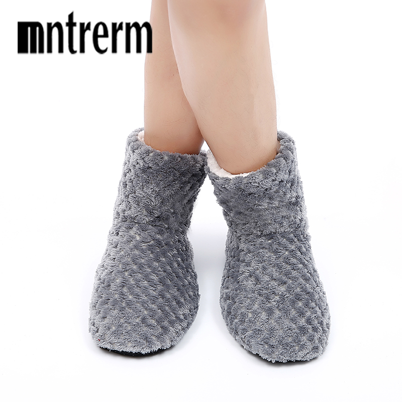 Mntrerm 2019 Winter Women Slippers Indoor Floor Shoes Men New Warm Home Slippers Cotton Slippers For Men Large Size Shoes