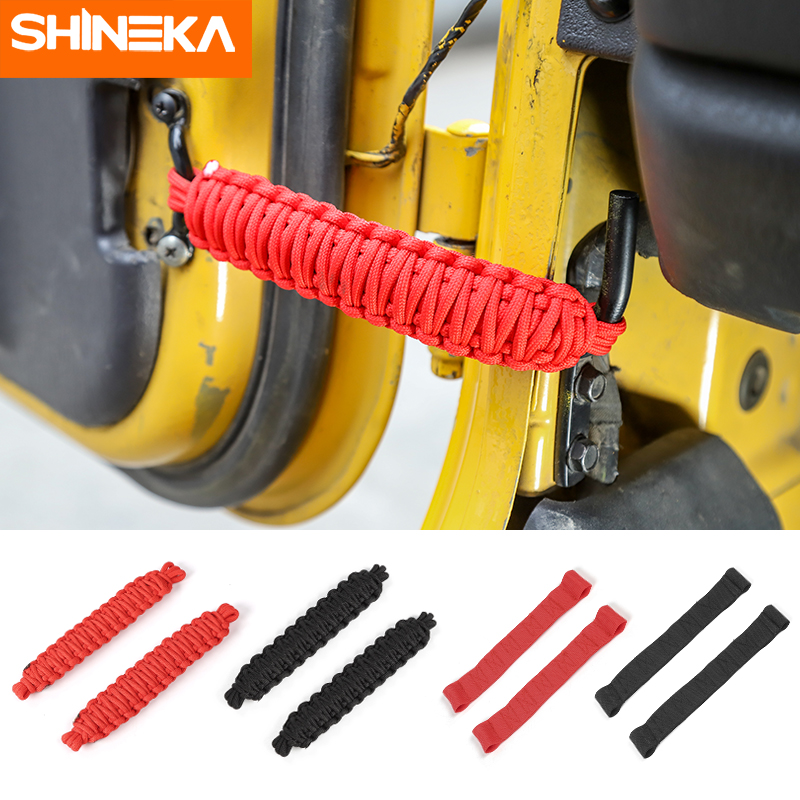 Tensioning Belts For Jeep Wrangler TJ 1997 2006 Front & Rear Door Adjustable  Restriction Protection