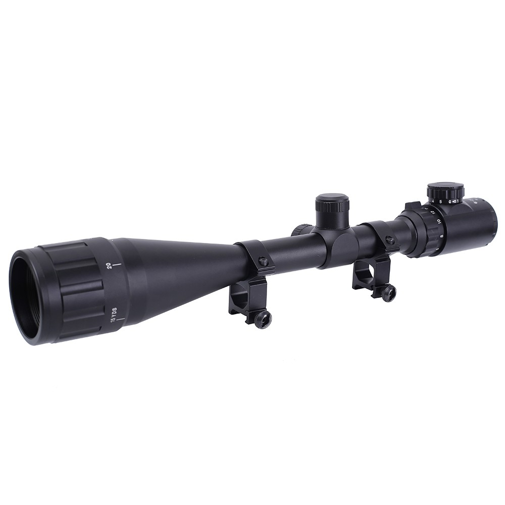 Image 2 - 6 24x50 3 9x40 Hunting Optics Adjustable Green Red Dot Hunting Light Tactical Scope Reticle Optical Rifle Scope With 11MM/20MMRiflescopes   -