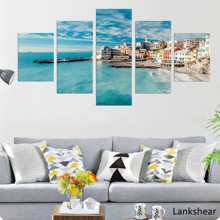 Wall Art Pictures HD Prints Canvas 5 Pieces Wide Seascape Painting Posters And For Living Room Home Decor Framework