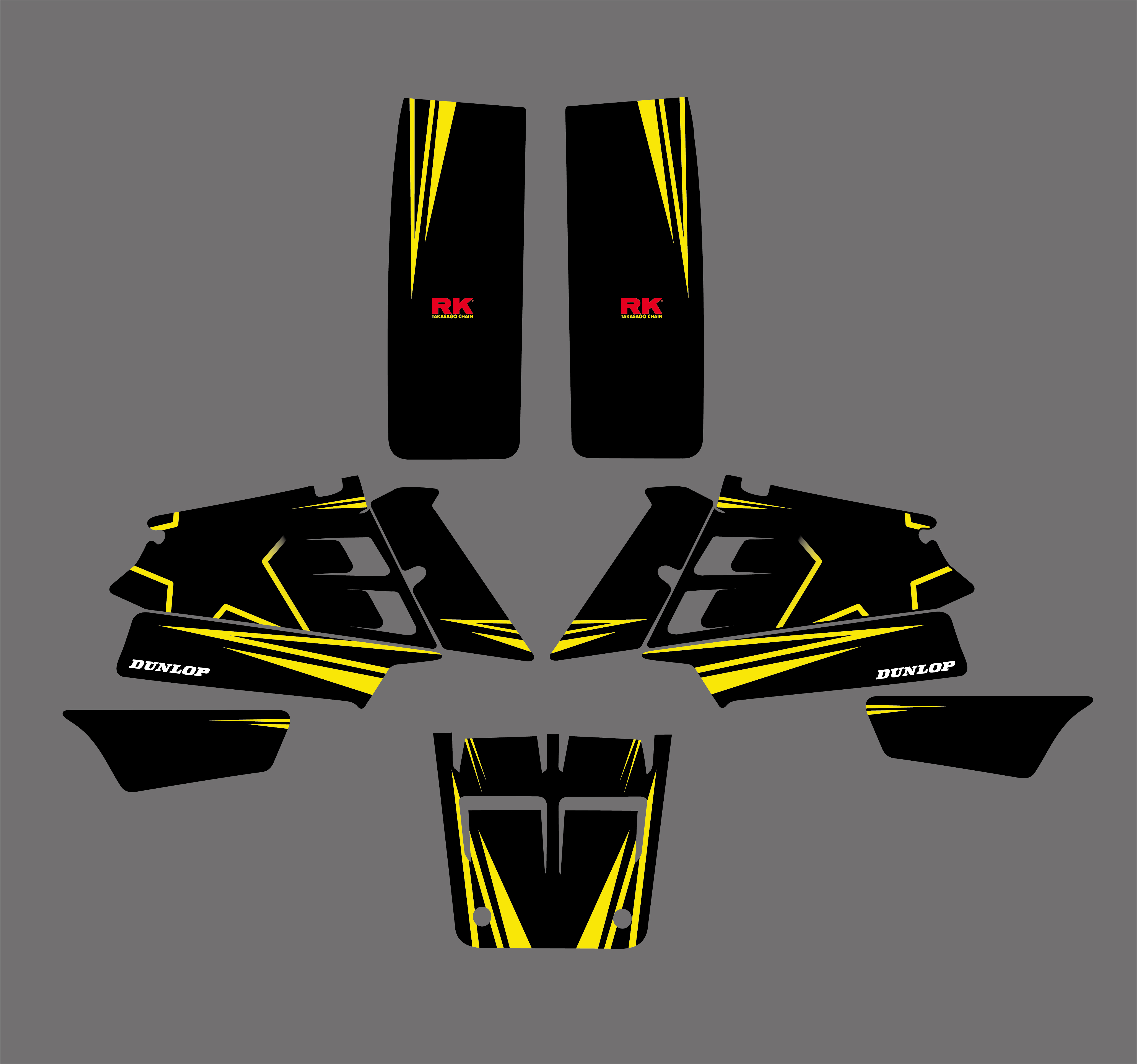 New Style DECALS STICKERS Graphics Kits for Yamaha BANSHEE 350 YFZ350 1987-2002 2003 2004 2005 Moto Decor Accessories Pegatina image