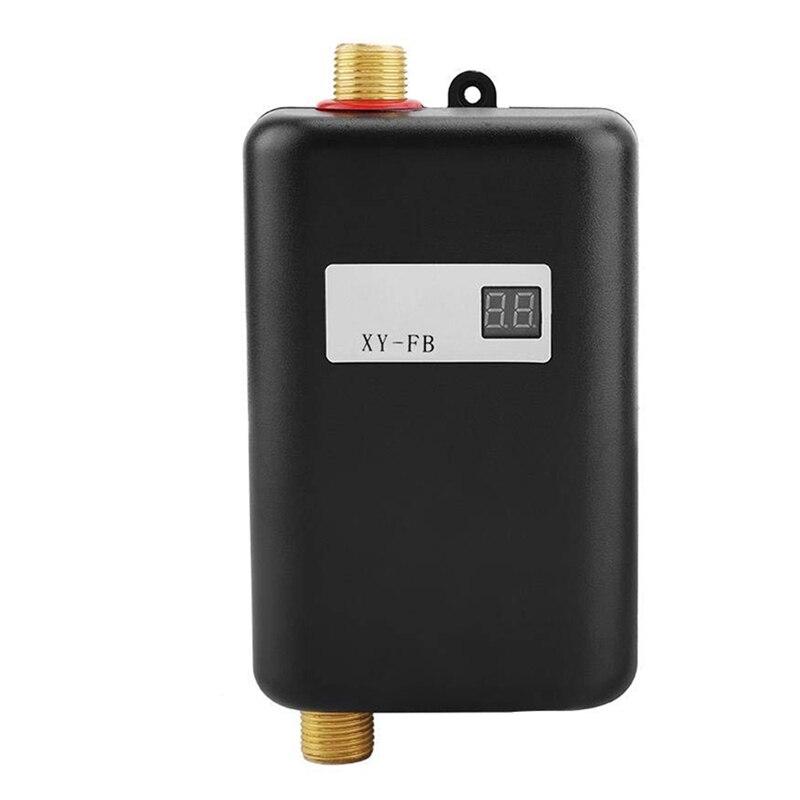 3800W Mini Electric Water Heater Instant Electric Water Heater Instant Electric Water Heating Shower 3 Seconds Hot EU Plug