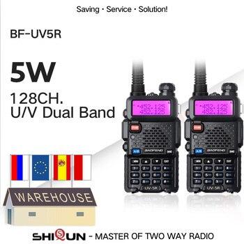 1/2PCS Baofeng UV-5R Amateur Radio Portable Walkie Talkie Pofung UV 5R 5W VHF/UHF Radio Dual Band Two Way Radio UV5r CB Radios 1