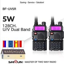 1/2 adet Baofeng UV 5R amatör radyo el telsizi Pofung UV 5R 5W VHF/UHF radyo çift bant iki yönlü telsiz UV5r CB radyolar