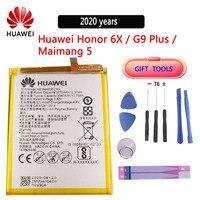 100% bateria original do telefone hb386483ecw para huawei honor 6x/g9 plus/maimang 5/gr5 2017 3340mah baterias de substituição
