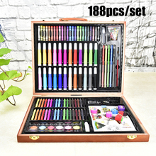 188 PCS/Set Kids Art Set Children Drawing Set Water Color Pen Crayon Oil Pastel Painting Drawing Tool Art Supplies Stationery