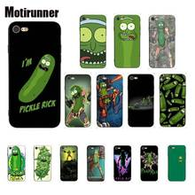 Motirunner Rick And Morty Pickle Rick Cute Phone Case For IPhone 6S 6plus 7 7plus 8 8Plus X Xs MAX 5 5S XR 11 Pro Max motirunner rick morty silicone phone case cover for iphone 8 7 6 6s 6plus x xs max 5 5s se xr 10 cases 11 pro max